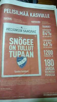 Hesarin etusivun mainospaikka & HIFKn case-tarina